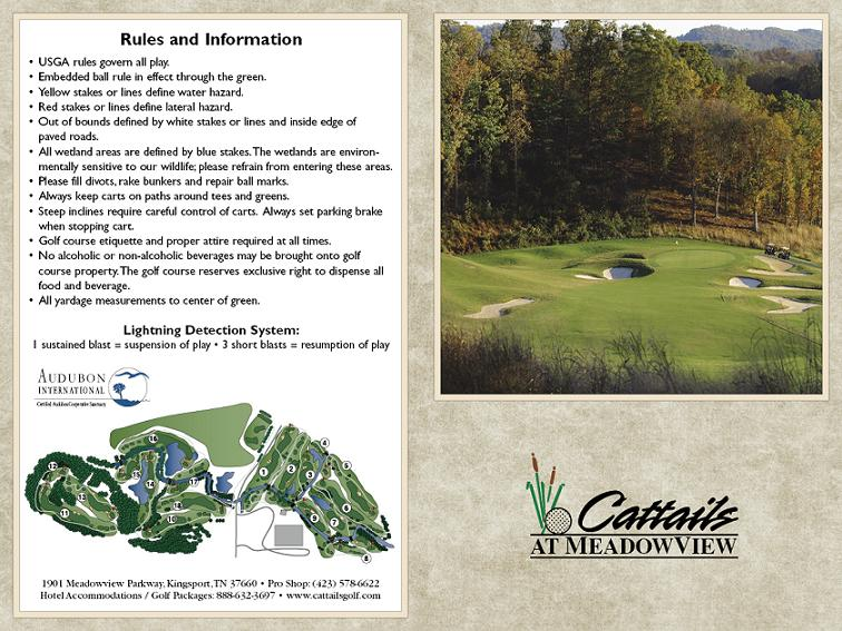 Cattails at MeadowView rules and information flyer